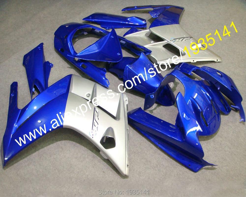 Горячие продаж,Спортбайк запчасти капот для YAMAHA FJR1300 FJR 1300 2002 2003 2004 2005 2006 02 03 04 05 06 серебро синий корпус обтекатель