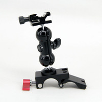 Rod Clamp + Ball Head With 1/4 Hot Shoe Mount DSLR Foto Kit Accessories For DJI Ronin M MX Gimbal LCD Monitor LED Light