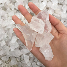 AAAA+ 50g Natural Mineral White Quartz Crystal Stone Rock Chips Specimen Healing collection natural crystal fish tank stone(China)