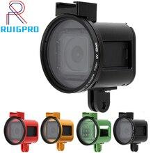 Go pro hero Accessoire CNC Alloy metal Case Behuizing Frame Shell uv lens cover kooien metalen voor GoPro hero 4 sessie