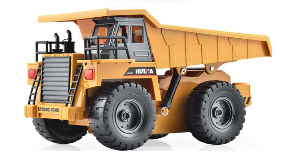 RC Truck 2 4G 4 Channel Remote Control Metal Dump Truck realistic Machine toys for child
