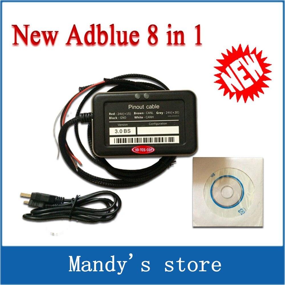 Prix pour Professionnel A + Qualité Soutien euro 6 Nouveau Adblue 8in1 Nouvelle Arrivée 8 en 1 AdBlue Émulateur V3.0 avec capteur NOx Adblue 8 en 1