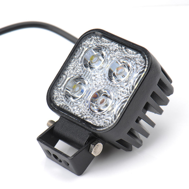 2pcs/lot Car Motorcycle LED Spot Work Light 12W LED Light Auto Lamp White Fog Light Car Motorbike Worklight Offroad Work Lamp