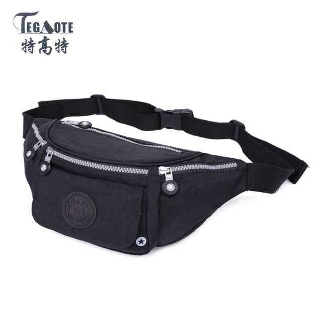 TEGAOTE 2017 Molle Waist Bags Waterproof Men Pouch Belt Zipper Bags Bolsa Casual Waist Pack nylon Work Waist Bag Small bags 1537