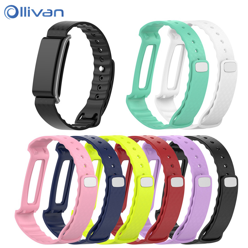 Ollivan Colorful Soft Silicone Replacement Bracelet Band Wrist Strap For Huawei Honor A2 Smart Watch Wrist Strap 8 Colors