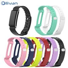 Ollivan צבעוני רך סיליקון החלפת צמיד להקת רצועת יד עבור Huawei כבוד להקת A2 רצועות צבע להקת A2 אבזרים