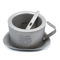 Fire maple Titanium Coffee Mug with Mixing Spoon Camping Double Walled Tea Cup Outdoor Picnic Tableware FMC 1702001