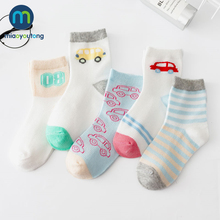5Pairs/lot Soft Mesh Thin Cotton Red Car Newborn Boy Kids Socks Baby Girls Skarpetki Meia Infantil Miaoyoutong
