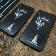 Ferocious Wild Wolf Soft Phone Cover Case For Iphone X Xs Max Xr 8 7 6 6s Plus Matte Silicon Cases Tattoo Coque Funda Capa цена