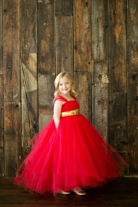 e69f2da35 Petit Dream Girl Dress Handmade Red Girl Baby Holiday Outfit with ...
