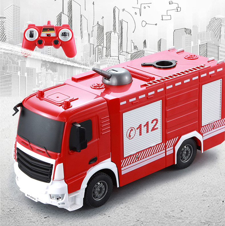 Fun mini Remote control fire car Truck Diecast rc toys for children 1 20 2 4g remote control car rc rescue fire engine truck toys