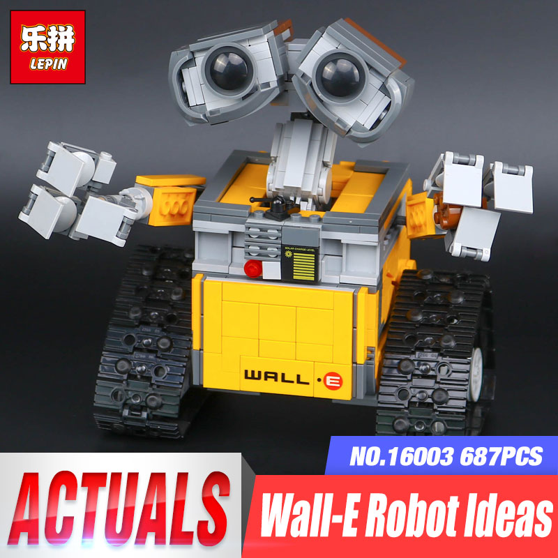 New Lepin 16003 Idea Robot WALL E Building Set Kits Toys Educational Bricks Blocks Bringuedos 21303 for Children DIY Funny Toy new 687pcs lepin 16003 ideas series wall e lovable robot wall e building block minifigures with legoe 21303 toy kids boy