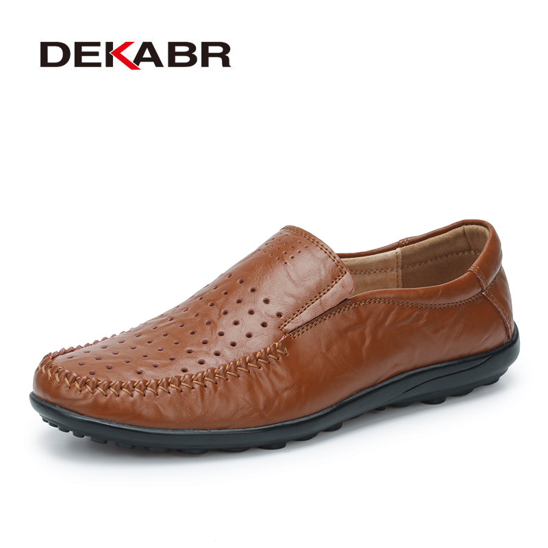 цены  New Fashion Men Leather Flats High Quality Men Loafers Summer Men Driving Shoes Breathable Hollow Casual Shoes Big Size 38-45