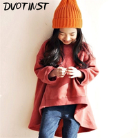 Dvotinst Baby Girls Clothes Full Sleeve Pullover Green Pink Spring Sweater Dress Infantil Toddlers Child Kids