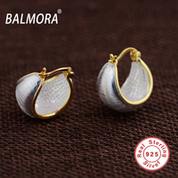 BALMORA 100 Real 925 Sterling Silver Jewelry Classic Stud Earrings For Women Lover Party Gifts Moon