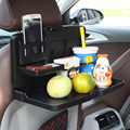 Multifunction car drink holder pallet car chair back dish vehienlar dining table folding mount auto interior accessories
