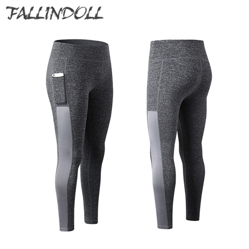 08e5d492eec Women Gym Leggings Seamless Solid Phone Pocket Fitness Yoga Pants Running  Tights Sportswear Jogging Leggins Tracksuit Female