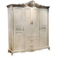 Шкаф спальни дома мебель, 4 двери neoclaasical твердые деревянные материалы могут быть выполнены по индивидуальному заказу Цвет