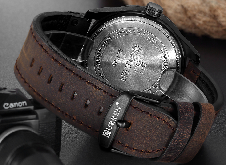 Image 4 - CURREN Men Military Sports Watches Mens Quartz Date Clock Man Casual Leather Wristwatches  Relogio Masculinoclock brandclocks maleclock military -