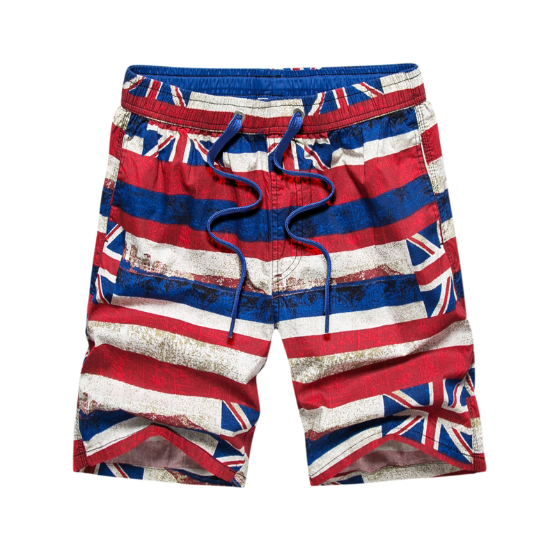 Brand Men's Board Shorts Summer Fashion UK Flag Printing Casual Shorts 100% Cotton Man Plus Size 3XL Beach Pants Sprotwear HF760