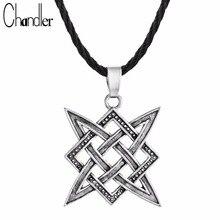 Chandler Slavic Norway Valknut Viking Svarog Square Pendant Star Rus Amulet Charm Retro Talisman Jewelry Pagan Ethic Accessary