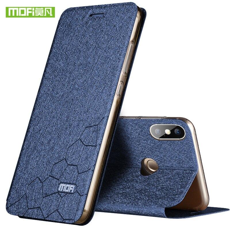 NEUE Für Xiaomi Redmi Hinweis 5 Pro Fall Mofi für Redmi Hinweis 5 Pro Fall Abdeckung Luxus Flip TPU Leder fall für Xiaomi Redmi Note 5