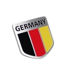 High Quality Aluminum Car Styling Sticker Germany Flag  50*50 mm DE German Flag