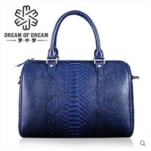 mengzhongmeng Python skin Women's handbag dermal fashion handbag the classic women bucket bag