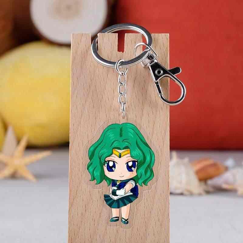 Anime Sailor Moon Pingente de Acrílico Transparente Mês Lebre Coelho Pequeno transparente double-side pingente chaveiros para as mulheres saco