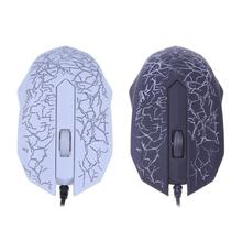 Wired USB Port 3 Keys 2400DPI Optical Gaming Mouse with RGB Backlight for PC Laptop Computer Promotion Home Office Gamer Mice