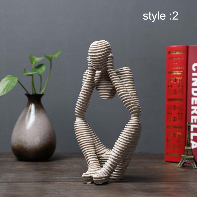 Sandstone Abstract Figure Decorative Ornaments For Living Room Office  DNJ998