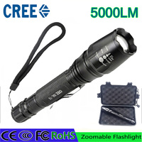 Z50 LED Flashlights CREE XM L T6 Zoomable Torch 5000 Lumen Led Torch Aluminum Led Flashlights