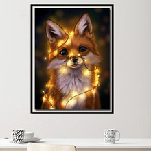 "Meian 5d diy Diamond Painting ""Light Dog"" Picture Full drill kits diamond embroidery Cross stitch 2019 Resin Christmas Sale(China)"