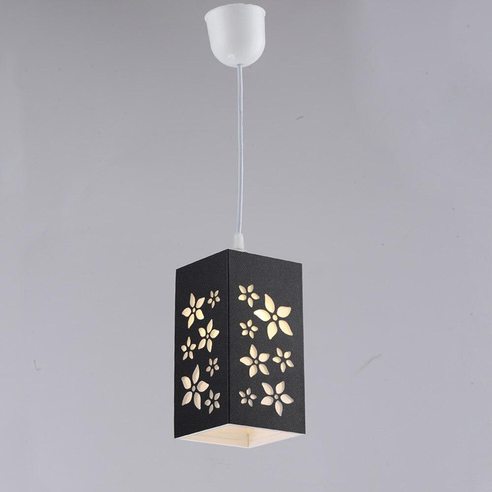 Flower Pendant Lights Blackwhitebrown Pvc Pendant Lamps For