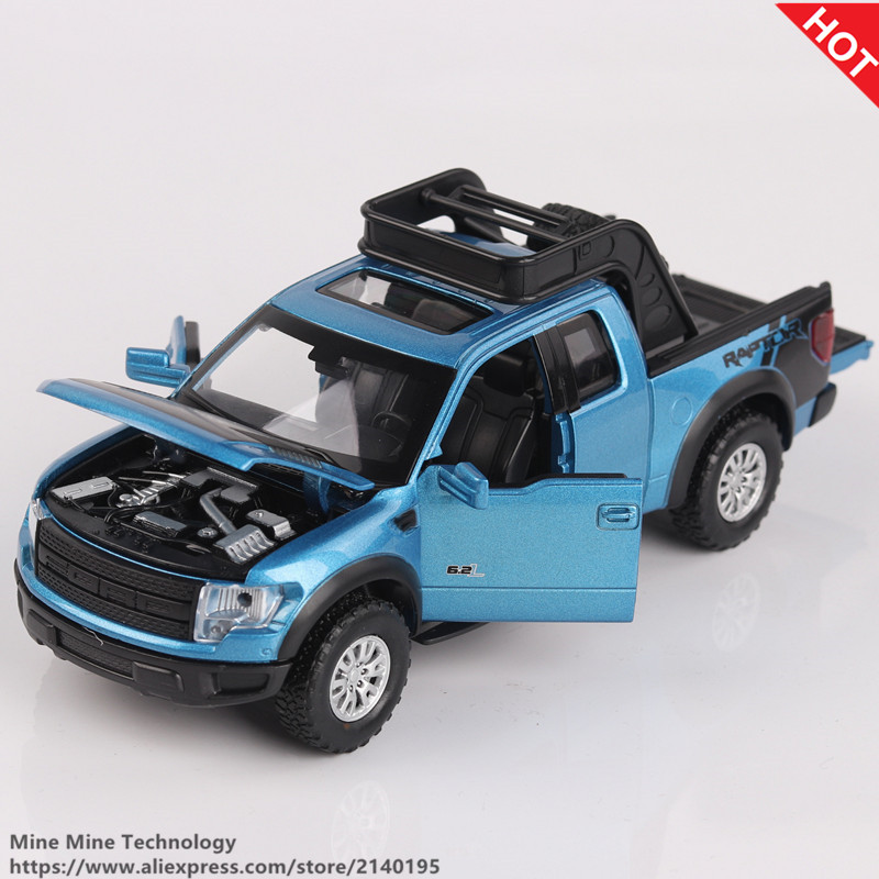 1 32 High Simulation Exquisite Model Toys Double Horses Car StylingFord F150 Raptor Pickup Trucks Alloy
