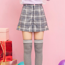 Princess sweet lolita shorts Venice winter sweet cute adorable cat Sister cloth embroidery all-match baggy Plaid Shorts VC32