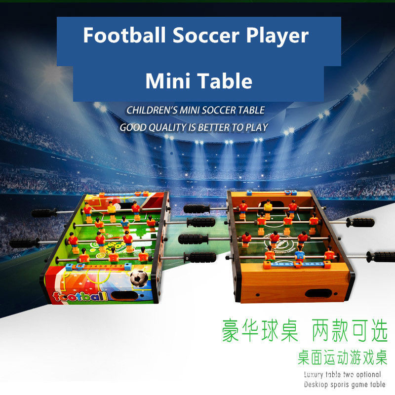 Wooden Mini Soccer Table Football Sport playing Player toys