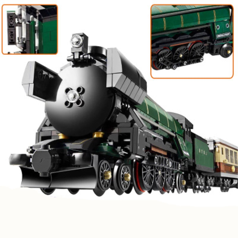 lepin23007 1109 pcs Science and technology series steam locomotive Model Building Blocks Bricks Toys Kits boy gift for norman god that limps – science and technology i n the eighties