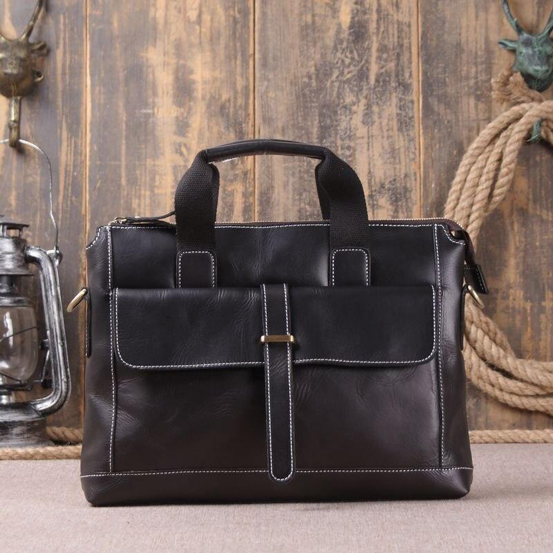 2018 New Brand Men Casual Briefcase Business Hnadbags Leather Messenger Shoulder Bag Computer Laptop Handbag Bag Male Travel Bag цена 2017