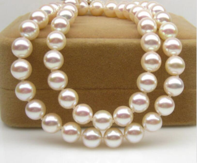 Здесь продается  Beautiful NEW perfect 8-9mm round natural south seas white pearl necklace18INCH   Ювелирные изделия и часы