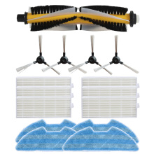 1*main brush+ 4 * side brush + 6 filter mop cloth for Proscenic VSLAM-811GB VSLAM-911SE vacuum cleaner accessories