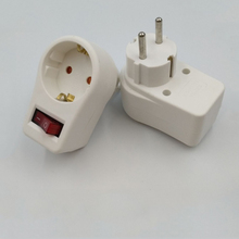5PCS European Conversion Plug German Socket With independent switch Child Safety Protection Door Power Adap