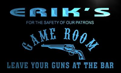 x0231-tm Eriks Cowboys Game Room Custom Personalized Name Neon Sign Wholesale Dropshipping On/Off Switch 7 Colors DHL