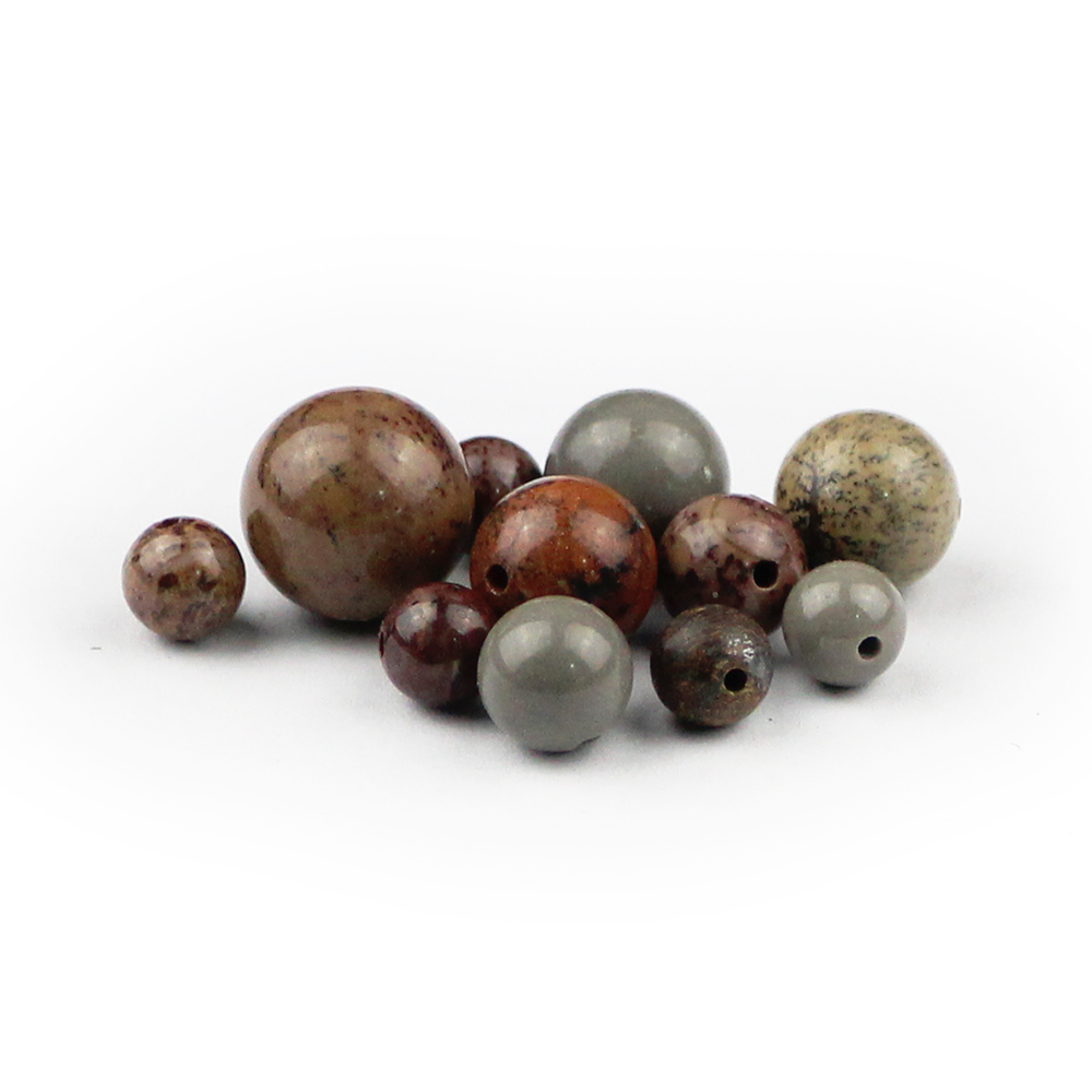 BTFBES Natural Algae Grass fossils Stone Beads Round Ore Loose bead 6 8 10 12mm ball For Jewelry Bracelet Making DIY Accessories in Beads from Jewelry Accessories