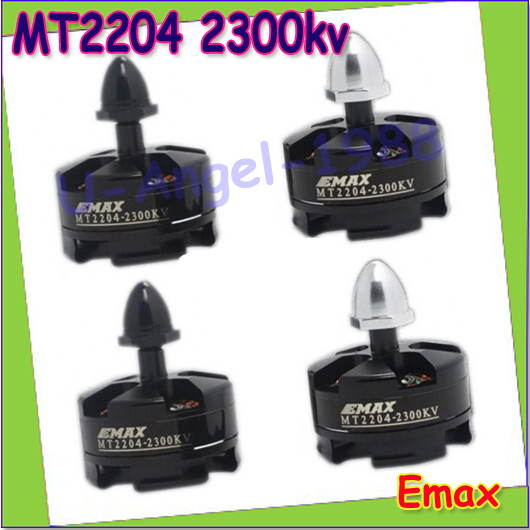 4set/lot 2pcs CW and 2pcs CCW EMAX MT2204 KV2300 Multi Axis Brushless Motor QAV250 FPV Through Dedicated Free shipping