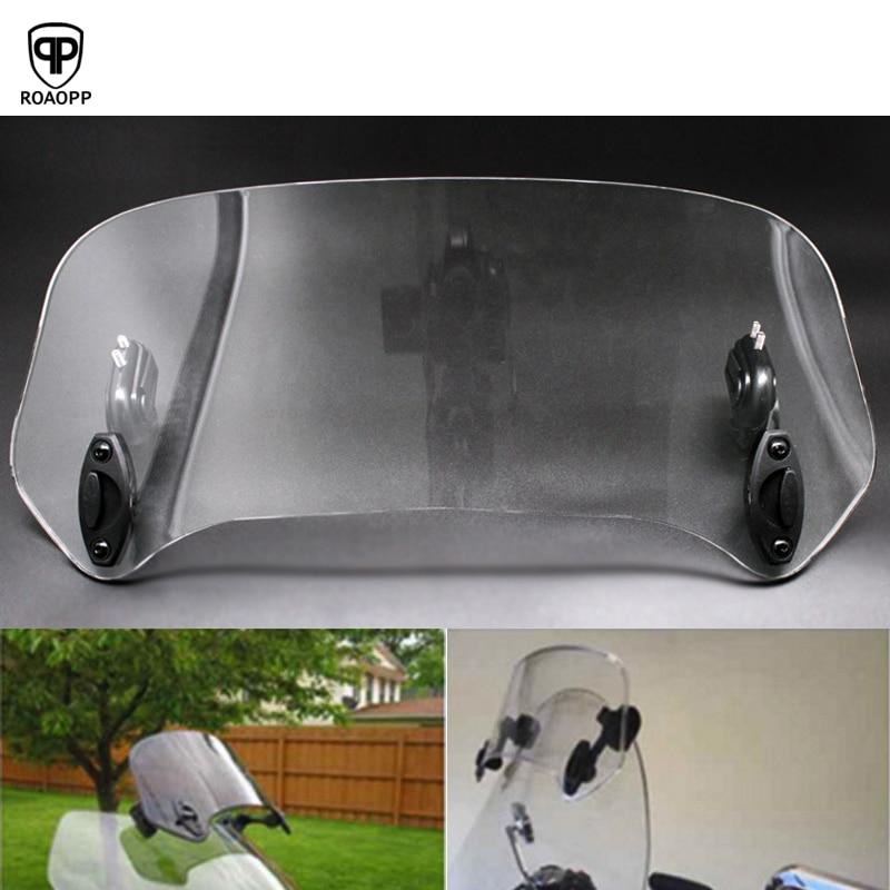 ROAOPP Universal Motorcycle Risen Adjustable Wind Screen Windshield Spoiler Air Deflector For Honda BMW Yamaha Kawasaki Suzuki
