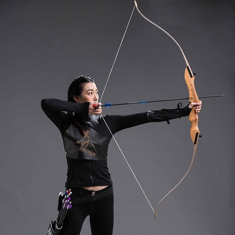 10-40lbs Archery Bow Wooden Recurve Bow for Outdoor Shooting Hunting Bow Sports Adult Children Practice Game children s recurve bow