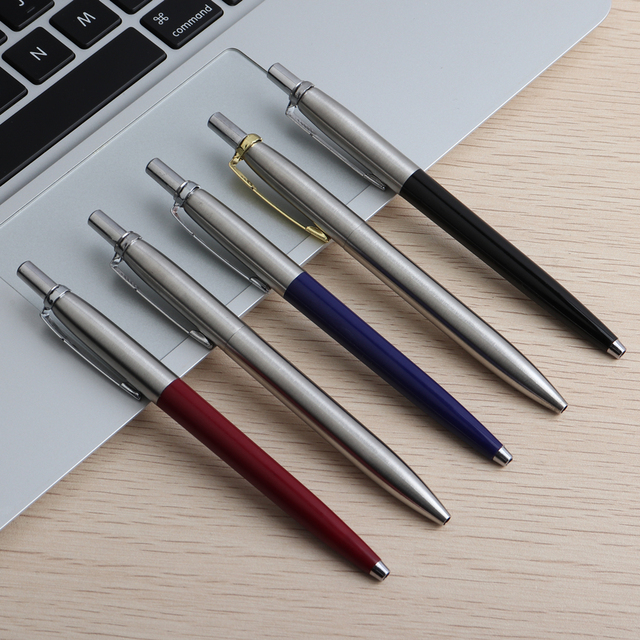 5PCS Baikingift Metal Ballpoint Pen Press Style Commercial Gift Pens For School Office Core  Automatic Ball pen Unisex Pen 0.7mm 3