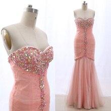 1ded8da7daa7 MACloth Blush Mermaid Strapless Floor-Length Long Crystal Tulle Prom  Dresses Dress M 265443 Clearance