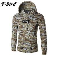 T Bird 2017 Hoodies Men Letter Printing Men Hip Hop Sweatshirt Winter Brand Hoodie Mens Camouflage